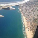 Avion avec vue sur la cote israelienne
